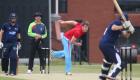 12/06/15 Cambridge v Oxford Varsity Twenty20 Varsity 20-20 match - Ruari Crichard bowls.Pic- Richard Marsham