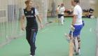Charlotte Edwards coaching Cambridge University women's cricket team